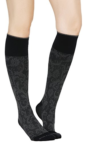 Buttons & Pleats Womens & Mens Medical Grade 20-30 mmHg Compression Socks Paisley - Buttons Grandmothers