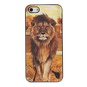 3D Tiger Efecto y protector de la cubierta de la funda detrás Lion para iPhone4/4S