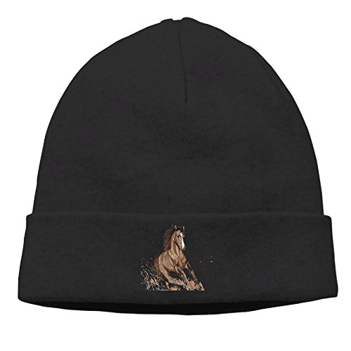 Handsome Horse Beanies Caps Skull Hats Unisex Soft Cotton Warm Hedging Cap ,One ()