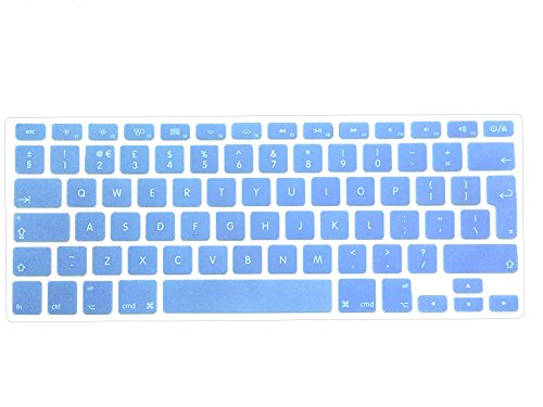 """Release 2016 SERENITY BLUE Keyboard Skin for Macbook Pro 13/"""" A1708 NO Touch Bar"""
