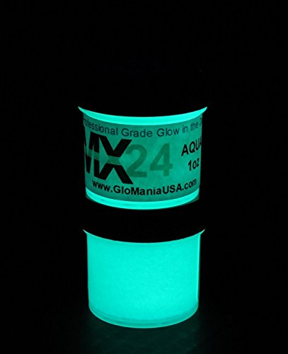AQUA MX24 Extreme Glow in the Dark Paint Daytime Invisible Range 1oz