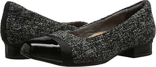 Clarks Women's Keesha Rosa Dress Pump, Grey Tweed Combi, 6 W US by CLARKS