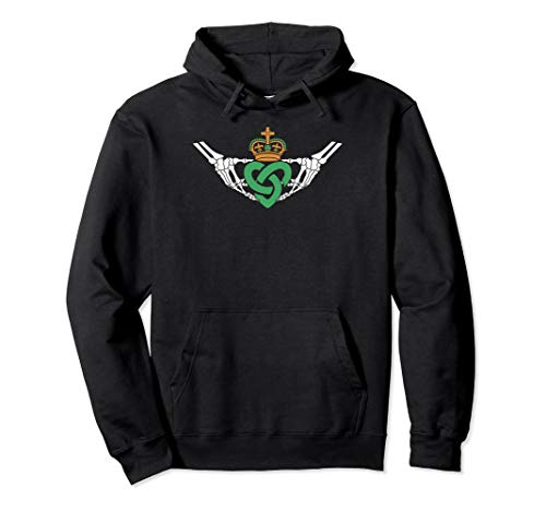 - Gothic inspired Claddagh Hoodie
