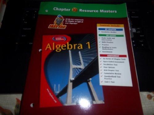 Download Algebra 1 Chapter 10 Resource Masters by Glencoe/McGraw-Hill (2002-05-03) pdf