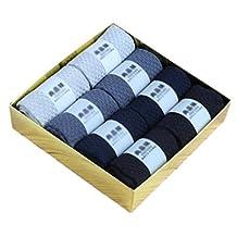 8 Pairs Men Socks Bamboo Fiber Soft Anti-sweat Antibacterial Fall Winter Socks Decent Gift-A10