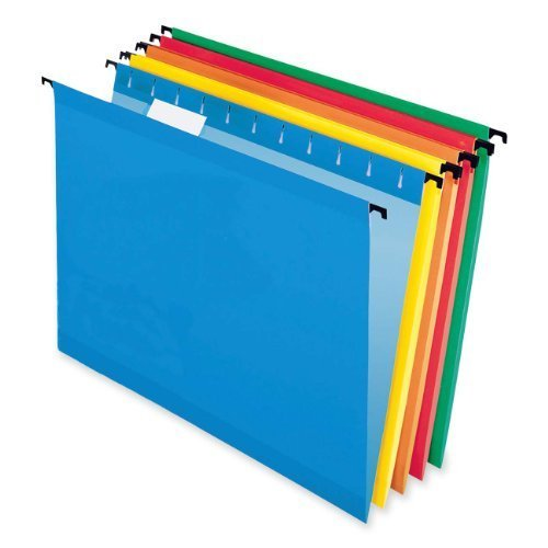 Esselte SureHook Reinforced Hanging Folders, Letter Size,...