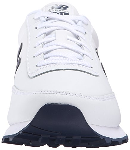 888546344532 - New Balance Men's NB501 Leather Collection Classic Running Shoe, White/Navy, 9 2E US carousel main 3