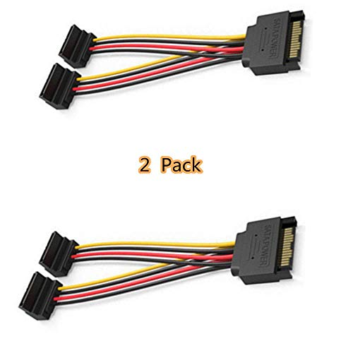 Siyu Xinyi SATA Hard Drive Cable 15P Male - Female 5 Row Extension Cord (with Buckle Power Cord) 2-Piece Set