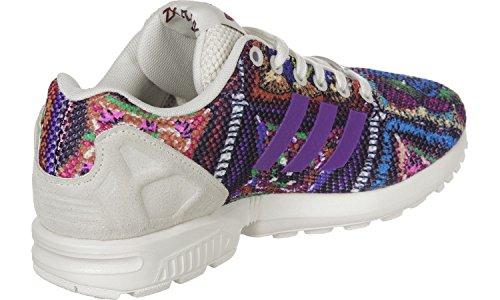 Adidas Originals Zx Flux Dame Kører Undervisere Sneakers (uk 9 Os 10,5 Eu 43 1/3, Off Hvid Midten Grå S76593)