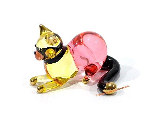 Handmade Cat Art Glass Blown Pet / Animal Figurine - No.1