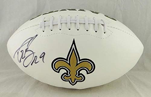 - Drew Brees Autographed New Orleans Saints Logo Football- JSA Authenticated blk