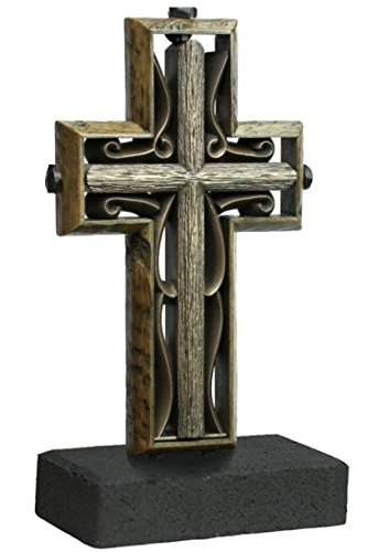 - Unity Cross Rustic Collection Hand Scraped Rustic Beech with Vintage Bronze Color Center