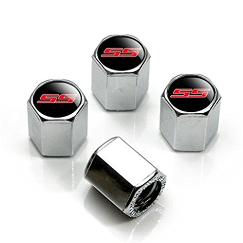 HYFML For Chevrolet Camaro SS Logo Zinc Alloy Tire Stem Valve Caps