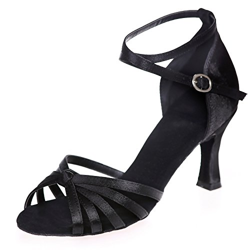 Zapatos Elobaby Strap Cross Baile Heels De Mujer Vestido 7 TalóN Dress 5cm Jazz Latin Low Buckle De Black prxdWr