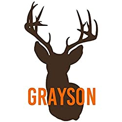 Personalized Deer Hunting Vinyl Decal Sticker with Name for Yeti Cup, Tumbler, or Truck