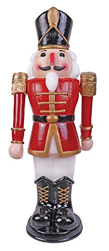 Pan Asia Nutcracker Animated 3' Toy Soldier Red and White
