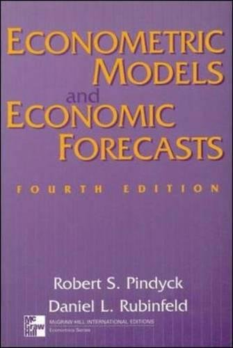 Econometric Models and Economic Forecasts