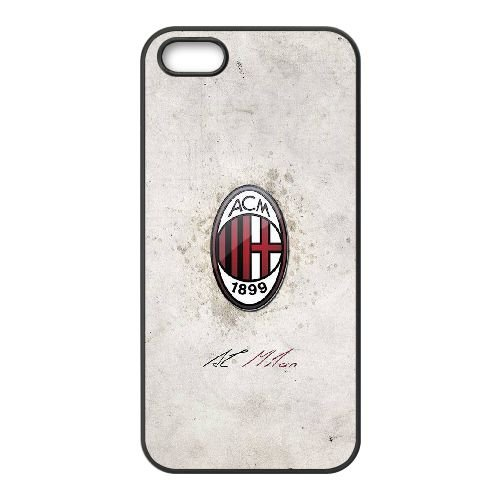 Ac Milan 003 coque iPhone 5 5S cellulaire cas coque de téléphone cas téléphone cellulaire noir couvercle EOKXLLNCD21301