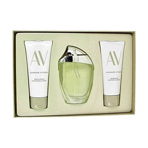 (Adrienne Vittadini W-GS-2843 AV by Adrienne Vittadini for Women - 3 Pc Gift Set 3oz EDP Spray, 3.3oz Body Lotion, 3.3oz Shower Gel)