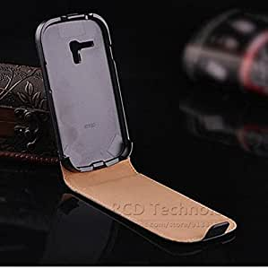 10pcs/lot Genuine Leather Case For Samsung i8190 Korean Style Flip Skin Cover for Galaxy SIII Mini Black And White YXF02401 --- Color:black