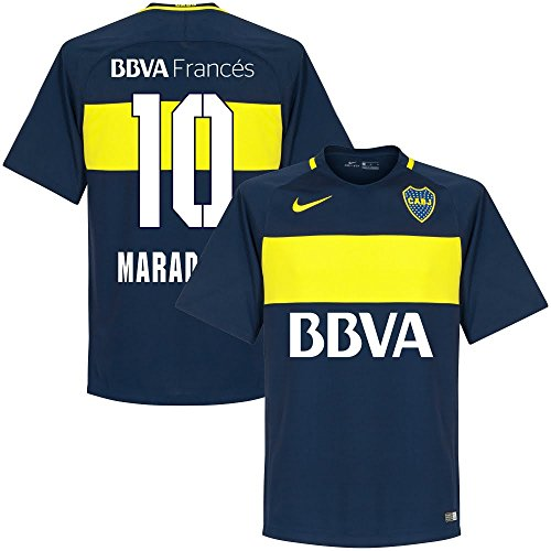 fan products of Boca Juniors Home Maradona Jersey 2016 / 2017 (Fan Style Printing) - XL