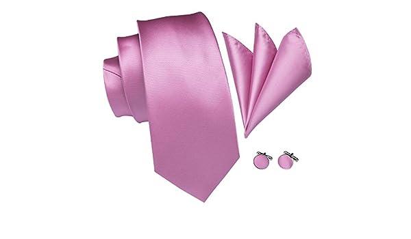 Hi-Tie - Juego de gemelos y corbata de jacquard tejido de seda ...