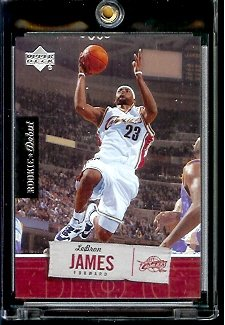 2005 06 Upper Deck Rookie Debut LeBron James Cleveland Cavaliers Basketball Card #15 - Mint Condition - In Protective Display Case - Debut Card 2005 Rookie
