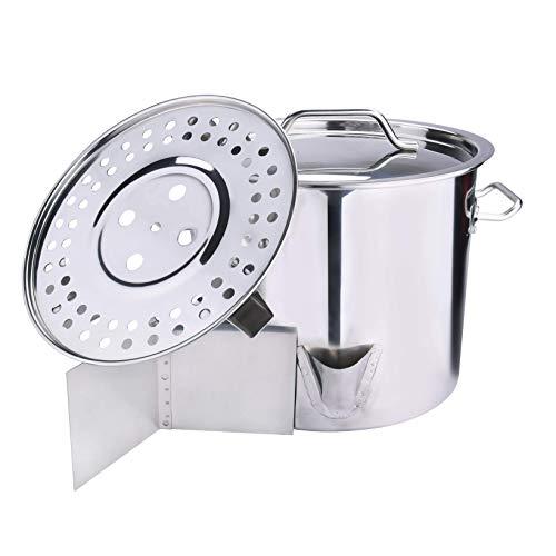 Stock Pot, Stainless Steel Pot, Steamer with Lid, Vaporera Divider Tamales Steamer, ARC USA, NEW DESIGN, 20QT/24QT/32QT/40QT/52QT (20QT)