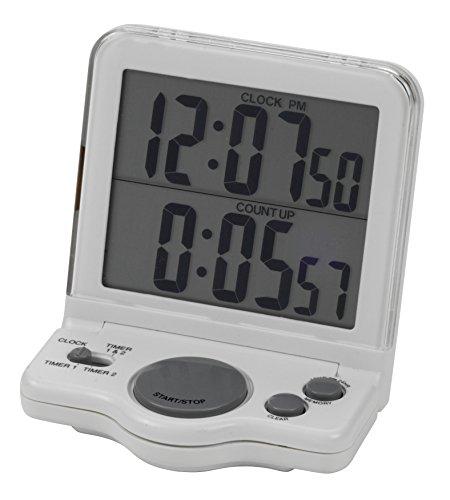 Heathrow Scientific HD24780 Big Digit Dual Timer/Clock with Dual LCD Display 82mm Length x 140mm Width x 13mm Height