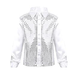 Boys Glittery Sequined Shirt