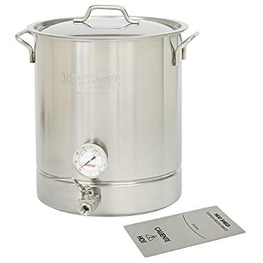Bayou Classic 10 gallon Brew Kettle Set, 40 quart, Stainless Steel