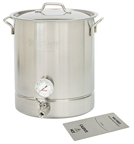 Bayou Classic 10 Gallon Brew Kettle Set  40 Quart  Stainless Steel