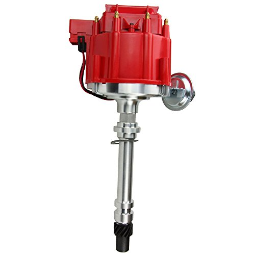 Motovecor HEI Distributor for Chevy GMC GM SBC BBC Small Block Big Block 65k Coil 9000RPM 305 350 400 350 454 302 454 396 V8 (Red) (78 Monte Carlo 305)