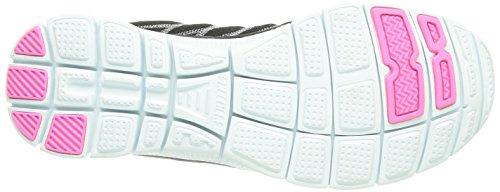 Black Skechers mujer lona Flex Fab White de nbsp;Totally zapatilla Appeal deportiva rnCrx80qzw