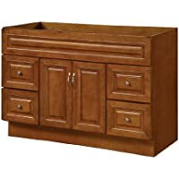 Hardware House LLC H11-5094 Manchester Collection 48-Inch Vanity with 2-Doors and 4-Drawers, Chestnut Finish
