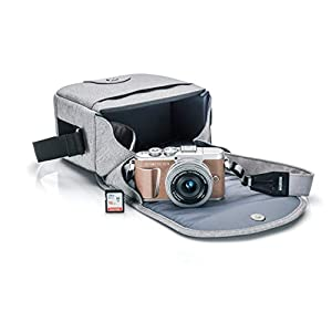 Olympus PEN E-PL9 Kit with 14-42mm EZ Lens, Camera Bag, and Memory Card (Honey Brown)