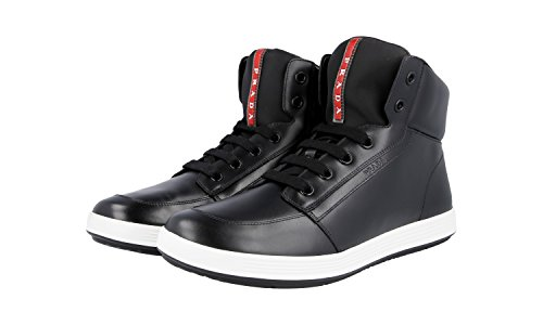 outlet find great free shipping how much Prada Men's 4T2843 Leather Sneaker RiXUcTI3H
