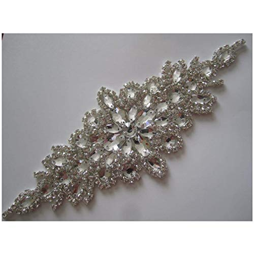 ShiDianYi Elegant Sash/Wedding Applique - Rhinestones Hot Fix