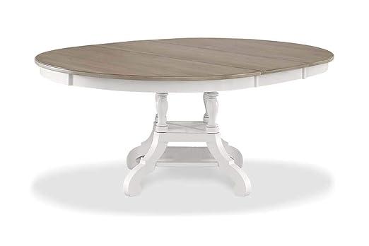 Hillsdale Furniture - Mesa de Comedor Ovalada, Color Blanco ...