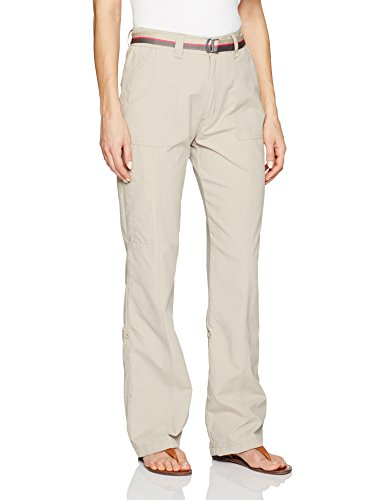 (Pacific Trail Women's Roll Up Cuff Pants, Bone, Medium)