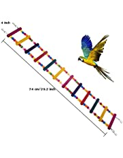 MEISO, Giocattolo per Uccelli per Scala, Altalena, Ponte Arcobaleno per pappagalli, pappagalli, pappagalli, pappagalli Grigi, Conures calopsitte, cokatoo Lovebirds