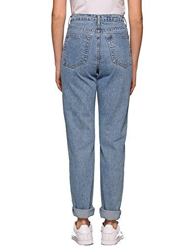Boyfriend Jeans For Women 1980s High Waist Loose Fit