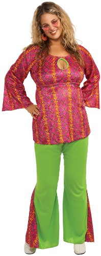 60039;s Hippie Girl Costume - Plus Size - Dress Size Up to 18 -