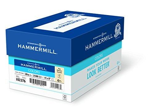 Hammermill Paper Colors Tan 20lb 11 x 17 Ledger 2500 Sheets / 5 Ream Case (102376C) Made In The USA [並行輸入品] B07K9KTK38