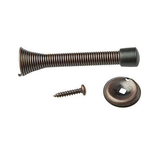 10 Pack of Oil Rubbed Bronze Spring Door Stops - 3 ¼ Inch Heavy Duty Door Stop - Traditional Spring Door Stop Bronze w/Rubber Bumper