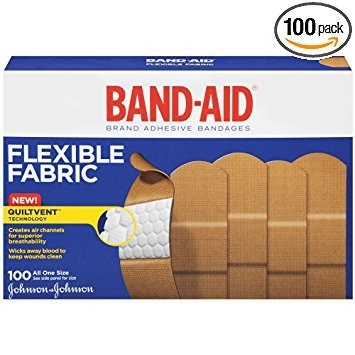 Band-Aid Brand Flexible Fabric Adhesive Bandages For Minor Wound Care, 100 Count - Pack of 6 by Band-Aid A