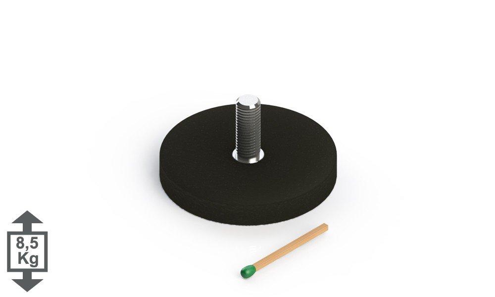 D=31mm H=6mm gummiertes Magnetsystem mit Innengewinde M4