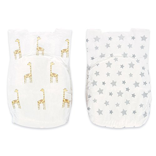 aden + anais Disposable Diapers; Hypoallergenic; Chemical-Free; Sensitive Skin Safe; Super Absorbent Leak Protection; Ultra Soft; Premium Quality; Size 2; Taylor - Giraffe by aden + anais