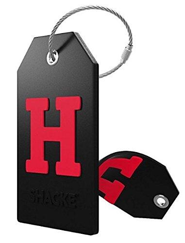 identificador de valija mochila acero inoxidable letra H