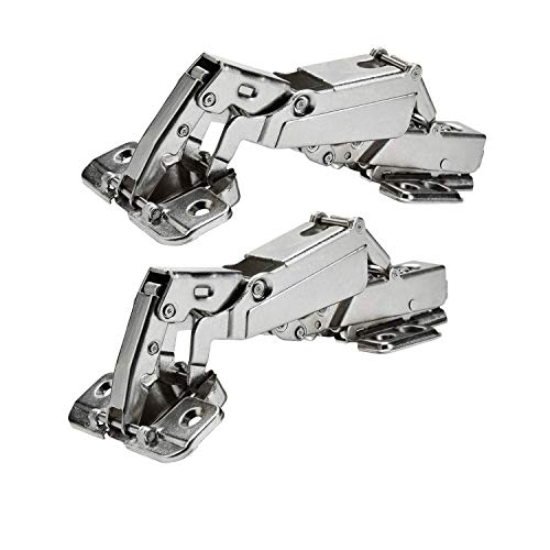 TamBee 175 Degree Concealed Hinges Face Frame Cabinet Hinges Hydraulic Adjustable Mounting Hinges Soft Closing Stainless Steel Buffer Dampers for Wardrobe,1 Pair (Full ()